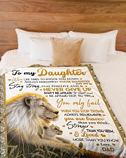 """NEVER GIVE UP - BEST GIFT FOR DAUGHTER Large Fleece Blanket - 60"""" x 80"""" aos-coral-fleece-blanket-60x80-lifestyle-front-02"""