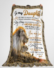 """NEVER GIVE UP - BEST GIFT FOR DAUGHTER Large Fleece Blanket - 60"""" x 80"""" aos-coral-fleece-blanket-60x80-lifestyle-front-10"""