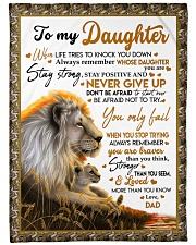"""NEVER GIVE UP - BEST GIFT FOR DAUGHTER Large Fleece Blanket - 60"""" x 80"""" front"""