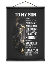 I AM THE STORM - TO SON FROM DAD 12x16 Black Hanging Canvas thumbnail