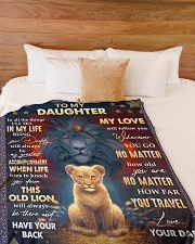 """MY LOVE WILL FOLLOW YOU - BEST GIFT FOR DAUGHTER Large Fleece Blanket - 60"""" x 80"""" aos-coral-fleece-blanket-60x80-lifestyle-front-02"""