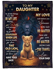 """MY LOVE WILL FOLLOW YOU - BEST GIFT FOR DAUGHTER Large Fleece Blanket - 60"""" x 80"""" front"""