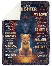 """MY LOVE WILL FOLLOW YOU - BEST GIFT FOR DAUGHTER Large Sherpa Fleece Blanket - 60"""" x 80"""" thumbnail"""