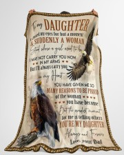 "THE PROUDEST MOMENT - GIFT FOR DAUGHTER FROM DAD Large Fleece Blanket - 60"" x 80"" aos-coral-fleece-blanket-60x80-lifestyle-front-10"