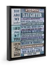 1 DAY LEFT - GET YOURS NOW Floating Framed Canvas Prints Black tile