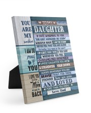 I AM SO PROUD OF YOU - LOVELY GIFT FOR DAUGHTER Easel-Back Gallery Wrapped Canvas tile