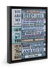 I AM SO PROUD OF YOU - LOVELY GIFT FOR DAUGHTER Floating Framed Canvas Prints Black tile