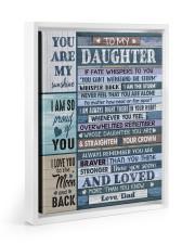 I AM SO PROUD OF YOU - LOVELY GIFT FOR DAUGHTER Floating Framed Canvas Prints White tile