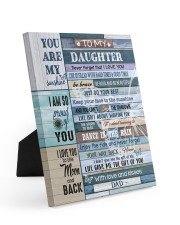LIFE GAVE ME THE GIFT OF YOU Easel-Back Gallery Wrapped Canvas tile