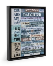 LIFE GAVE ME THE GIFT OF YOU 11x14 Black Floating Framed Canvas Prints thumbnail