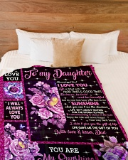 """I WILL ALWAYS LOVE YOU Large Fleece Blanket - 60"""" x 80"""" aos-coral-fleece-blanket-60x80-lifestyle-front-02"""