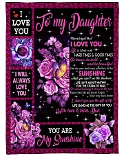 """I WILL ALWAYS LOVE YOU Large Fleece Blanket - 60"""" x 80"""" front"""