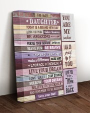 YOU ARE MY SUNSHINE - TO DAUGHTER FROM DAD 11x14 Gallery Wrapped Canvas Prints aos-canvas-pgw-11x14-lifestyle-front-17