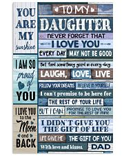 YOU ARE MY SUNSHINE - LOVELY GIFT FOR DAUGHTER 11x17 Poster front