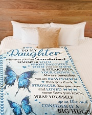 """BIG HUG - SPECIAL GIFT FOR DAUGHTER Large Fleece Blanket - 60"""" x 80"""" aos-coral-fleece-blanket-60x80-lifestyle-front-02"""