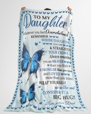 """BIG HUG - SPECIAL GIFT FOR DAUGHTER Large Fleece Blanket - 60"""" x 80"""" aos-coral-fleece-blanket-60x80-lifestyle-front-10"""