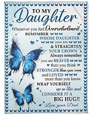"BIG HUG - SPECIAL GIFT FOR DAUGHTER Large Fleece Blanket - 60"" x 80"" front"