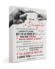 I LOVE YOU - AMAZING GIFT FOR DAUGHTER 11x14 Gallery Wrapped Canvas Prints front