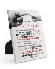I LOVE YOU - AMAZING GIFT FOR DAUGHTER Easel-Back Gallery Wrapped Canvas tile