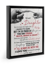 I LOVE YOU - AMAZING GIFT FOR DAUGHTER Floating Framed Canvas Prints Black tile
