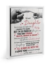I LOVE YOU - AMAZING GIFT FOR DAUGHTER Floating Framed Canvas Prints White tile