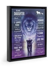 I BELIEVE IN YOU - AMAZING GIFT FOR DAUGHTER Floating Framed Canvas Prints Black tile