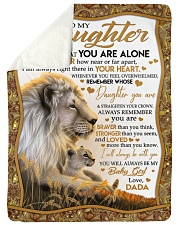 """NEVER FEEL THAT YOU ARE ALONE Large Sherpa Fleece Blanket - 60"""" x 80"""" thumbnail"""