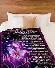 """NEVER FORGET I WILL LOVE YOU FOREVER Large Fleece Blanket - 60"""" x 80"""" aos-coral-fleece-blanket-60x80-lifestyle-front-02"""