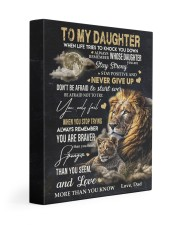 NEVER GIVE UP - AMAZING GIFT FOR DAUGHTER 11x14 Gallery Wrapped Canvas Prints front