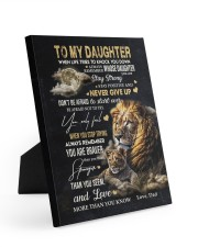 NEVER GIVE UP - AMAZING GIFT FOR DAUGHTER 8x10 Easel-Back Gallery Wrapped Canvas thumbnail