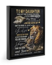 NEVER GIVE UP - AMAZING GIFT FOR DAUGHTER 11x14 Black Floating Framed Canvas Prints thumbnail