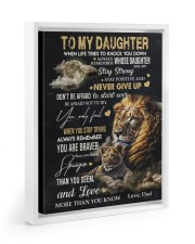 NEVER GIVE UP - AMAZING GIFT FOR DAUGHTER 11x14 White Floating Framed Canvas Prints thumbnail