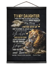 NEVER GIVE UP - AMAZING GIFT FOR DAUGHTER 12x16 Black Hanging Canvas thumbnail