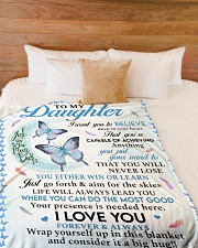 """I LOVE YOU FOREVER AND ALWAYS Large Fleece Blanket - 60"""" x 80"""" aos-coral-fleece-blanket-60x80-lifestyle-front-02"""