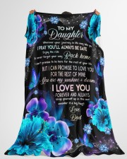 """I LOVE YOU FOREVER AND ALWAYS Large Fleece Blanket - 60"""" x 80"""" aos-coral-fleece-blanket-60x80-lifestyle-front-10"""