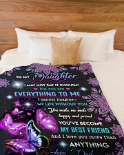 """I LOVE YOU MORE THAN ANYTHING  Large Fleece Blanket - 60"""" x 80"""" aos-coral-fleece-blanket-60x80-lifestyle-front-02"""