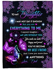 """I LOVE YOU MORE THAN ANYTHING  Large Fleece Blanket - 60"""" x 80"""" front"""