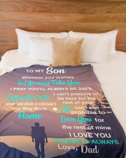 """ENJOY THE RIDE - SPECIAL GIFT FOR SON Large Fleece Blanket - 60"""" x 80"""" aos-coral-fleece-blanket-60x80-lifestyle-front-02"""