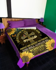 """GOD BLESSED ME WHEN YOU WERE BORN Large Fleece Blanket - 60"""" x 80"""" aos-coral-fleece-blanket-60x80-lifestyle-front-01"""