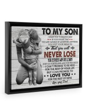 IN YOUR HEART - SPECIAL GIFT FOR SON 14x11 Black Floating Framed Canvas Prints thumbnail