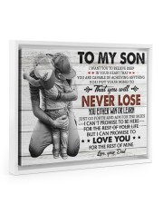 IN YOUR HEART - SPECIAL GIFT FOR SON 14x11 White Floating Framed Canvas Prints thumbnail