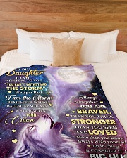 """CONSIDER IT A BIG HUG - GREAT GIFT FOR DAUGHTER Large Fleece Blanket - 60"""" x 80"""" aos-coral-fleece-blanket-60x80-lifestyle-front-02"""
