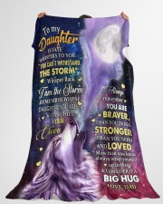 """CONSIDER IT A BIG HUG - GREAT GIFT FOR DAUGHTER Large Fleece Blanket - 60"""" x 80"""" aos-coral-fleece-blanket-60x80-lifestyle-front-10"""