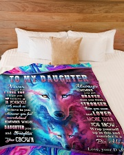 """NEVER FORGET THAT I LOVE YOU Large Fleece Blanket - 60"""" x 80"""" aos-coral-fleece-blanket-60x80-lifestyle-front-02"""