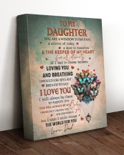 THE KEEPER OF MY HEART - BEST GIFT FOR DAUGHTER 11x14 Gallery Wrapped Canvas Prints aos-canvas-pgw-11x14-lifestyle-front-17