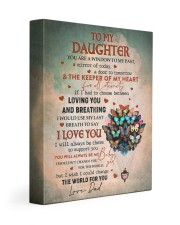 THE KEEPER OF MY HEART - BEST GIFT FOR DAUGHTER 11x14 Gallery Wrapped Canvas Prints front