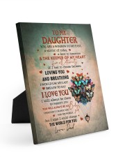 THE KEEPER OF MY HEART - BEST GIFT FOR DAUGHTER 8x10 Easel-Back Gallery Wrapped Canvas thumbnail