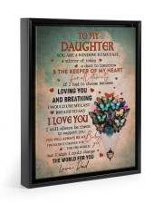THE KEEPER OF MY HEART - BEST GIFT FOR DAUGHTER 11x14 Black Floating Framed Canvas Prints thumbnail