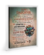 THE KEEPER OF MY HEART - BEST GIFT FOR DAUGHTER 11x14 White Floating Framed Canvas Prints thumbnail