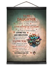 THE KEEPER OF MY HEART - BEST GIFT FOR DAUGHTER 12x16 Black Hanging Canvas thumbnail